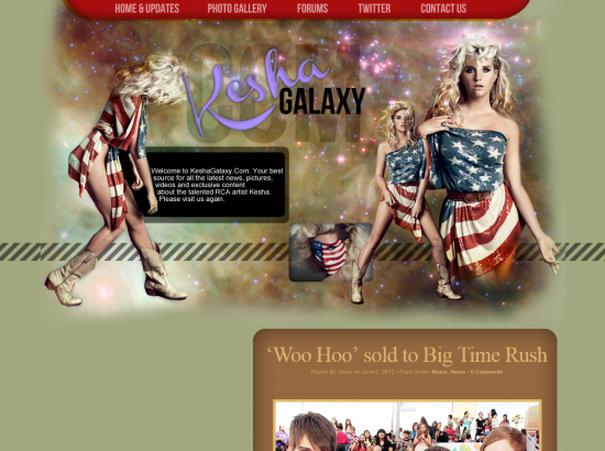 Ke$ha Galaxy Free Fansite Hostee
