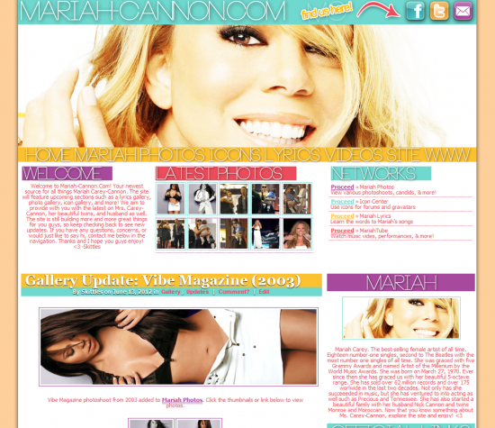 Mariah Carey-Cannon Fansite
