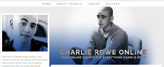 Charlie-Rowe com opens to fans! – Free Fansite Hosting