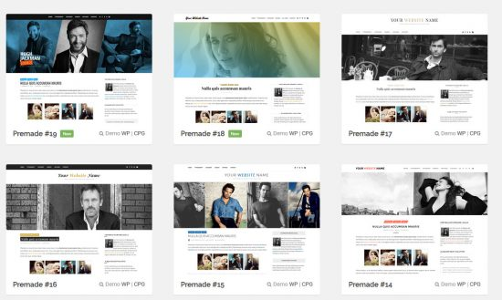 MonicaNDesign Pre-Made WordPress Themes for Fansites