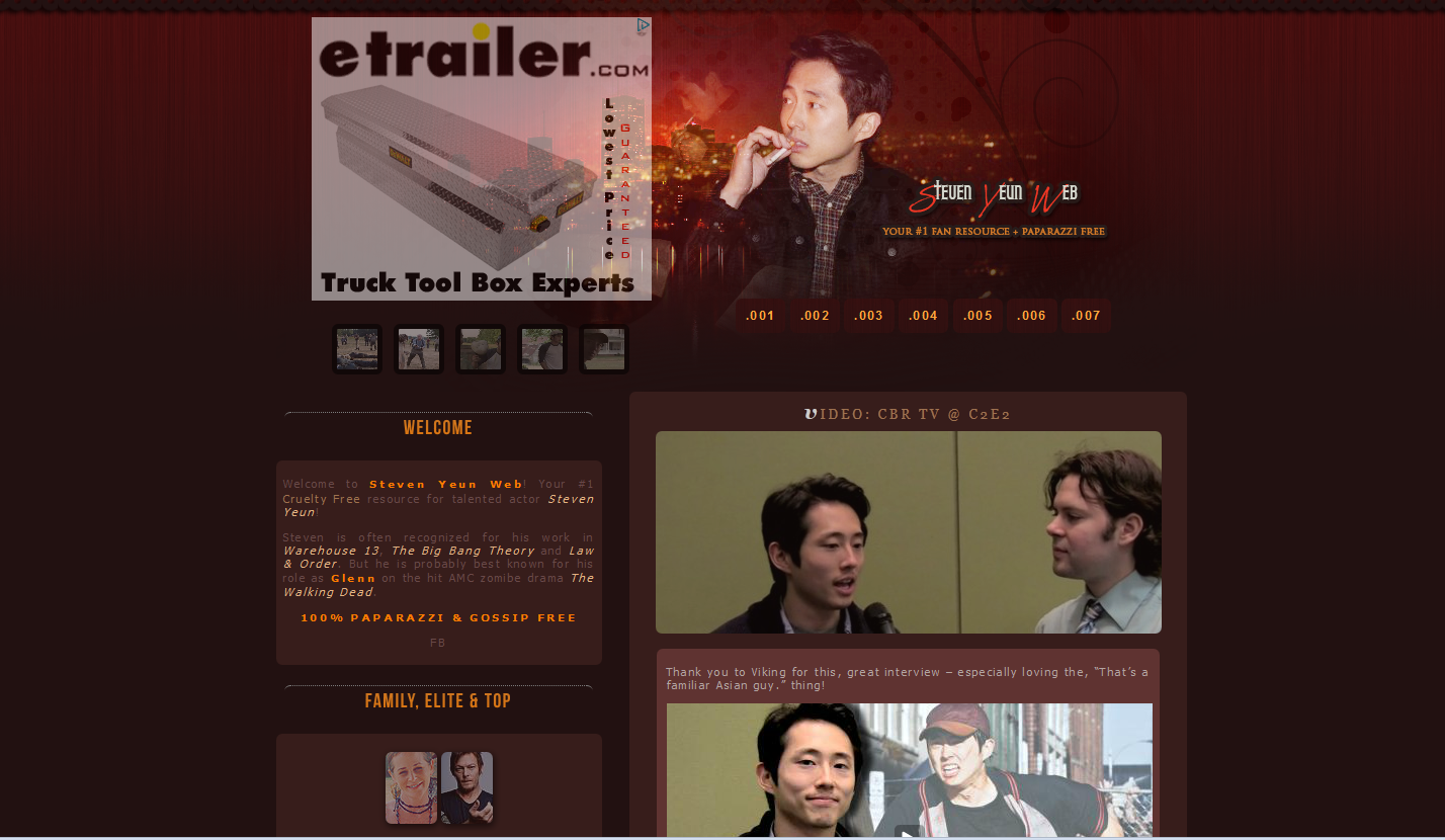 Steven Yeun Fansite